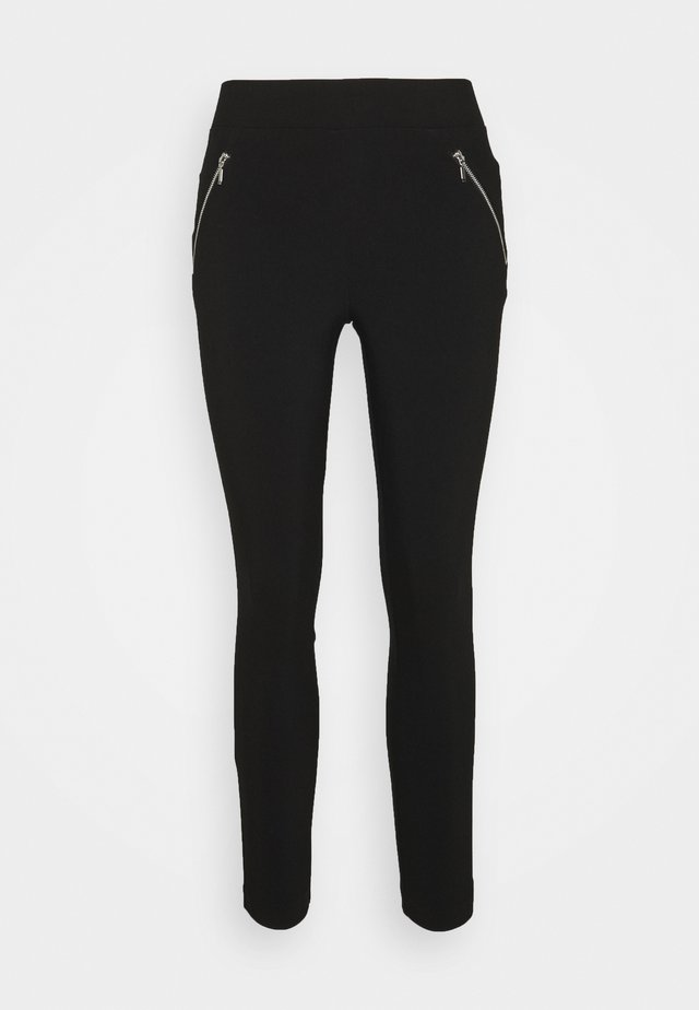 SIDE ZIP DETAIL SKINNY TROUSER - Trousers - black