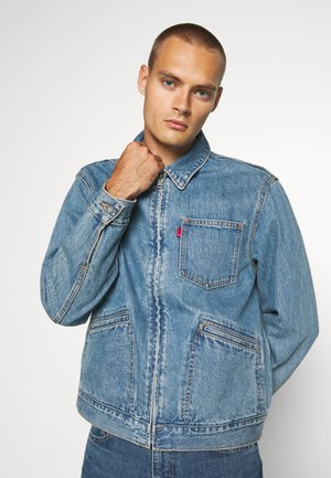 MECHANIC'S TRUCKER - Kurtka jeansowa - light blue denim