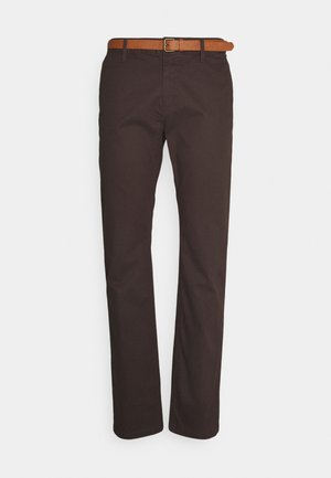 PRINTED CHINO - Chinos - dark brown