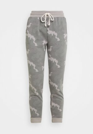 SLIM BOYFRIEND PRINT - Tracksuit bottoms - grey