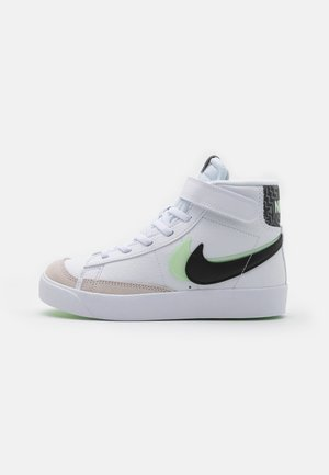 BLAZER MID '77 SE UNISEX - Korkeavartiset tennarit - white/black/vapor green/smoke grey