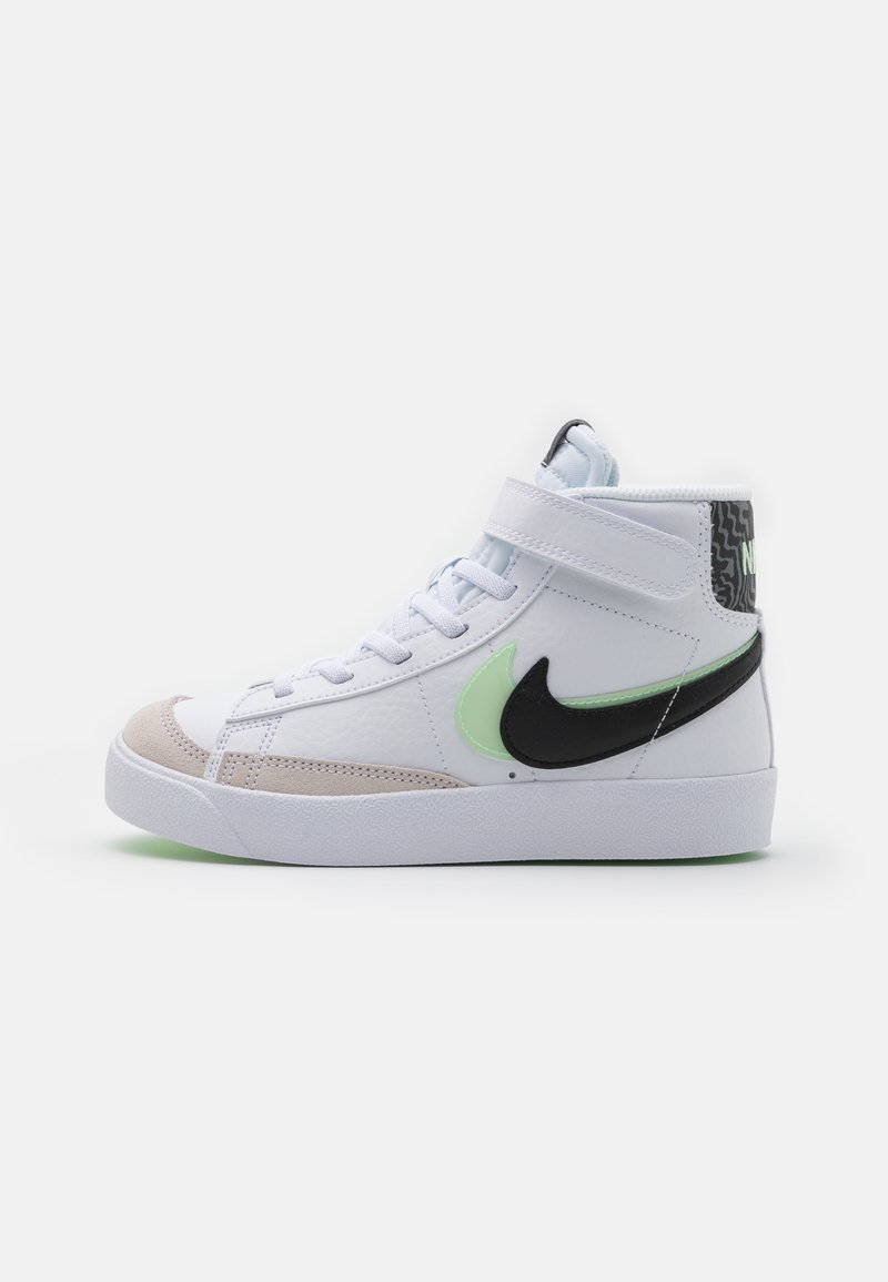 Nike Sportswear - BLAZER MID '77 SE UNISEX - High-top trainers - white/black/vapor green/smoke grey