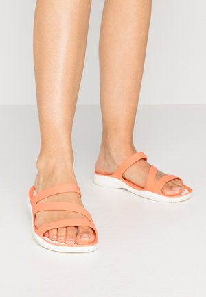 SWIFTWATER - Chanclas de baño - grapefruit/white