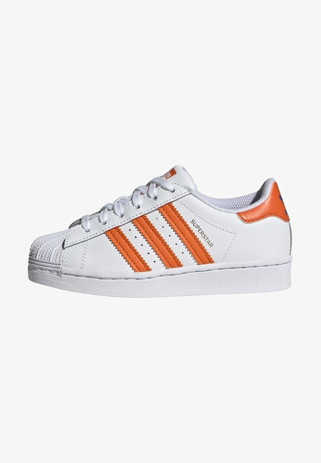 SUPERSTAR UNISEX - Sneakers laag - white/blue/gold