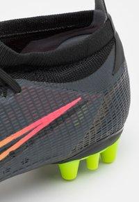 Nike Performance - MERCURIAL VAPOR 14 PRO AG - Fotbollsskor fasta dobbar - black/cyber/off noir - 5