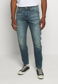 G-Star - 3301 SLIM C - Slim fit jeans - blue denim - 0