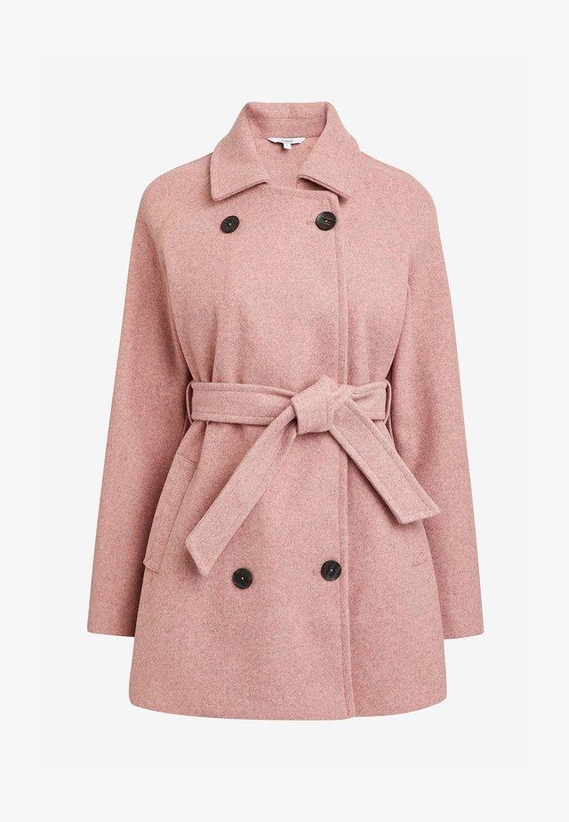 BELTED - Pitkä takki - pink