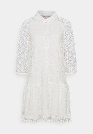 DRESS POPLIN COLLAR CUFF - Shirt dress - off white