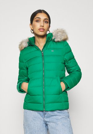BASIC HOODED JACKET - Down jacket - midwest green