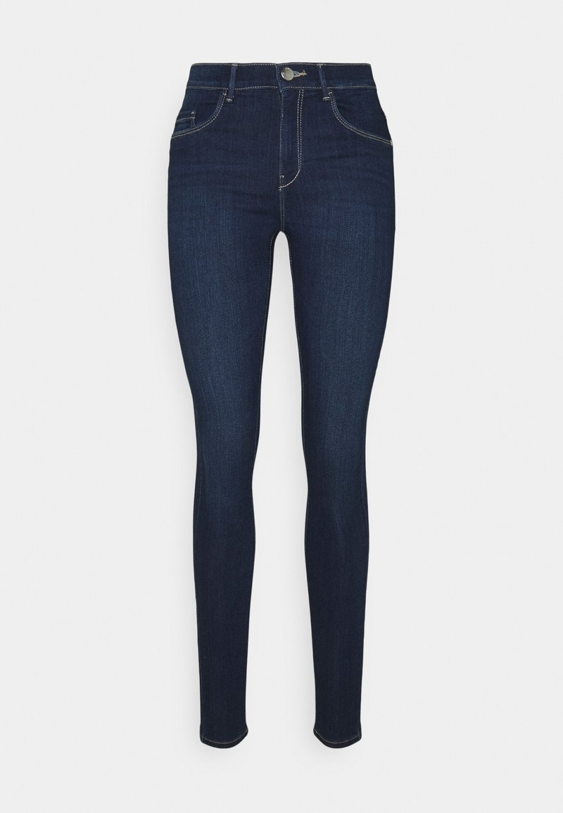 ONLY - ONLRAIN MID WAIST SKINNY FULL LENGH - Jeans Skinny Fit - dark blue