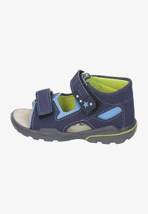 Walking sandals - nautic sky neongelb