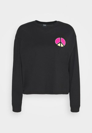 GRAPHIC LONG SLEEVE  - Long sleeved top - neon caviar