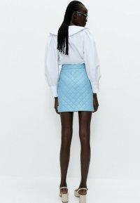 Uterqüe - A-line skirt - light blue - 2
