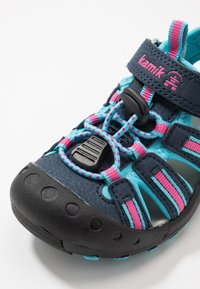 Kamik - CRAB - Walking sandals - navy teal/marine bleu sarcelle - 5