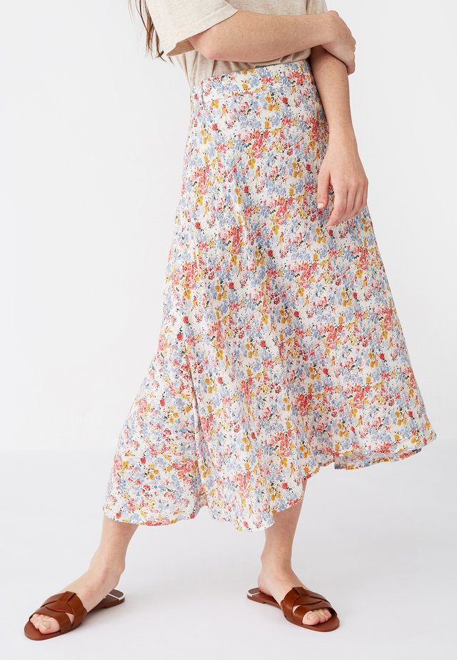 CLASSIC FIT - Wrap skirt - meadow print