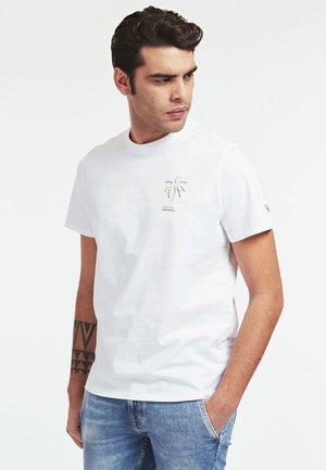 T-SHIRT GIROCOLLO - T-shirt z nadrukiem - bianco