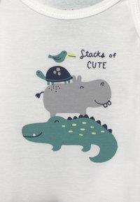 Carter's - STRIPE SET - Print T-shirt - dark blue/green - 2