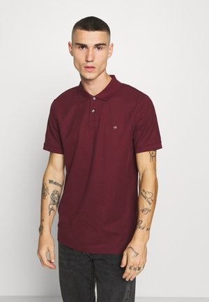 REFINED LOGO SLIM  - Polo - bordeaux