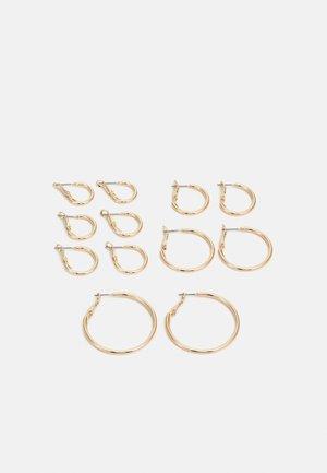 PCMIRAKLA HOOP EARRINGS 6 PACK - Earrings - gold-coloured