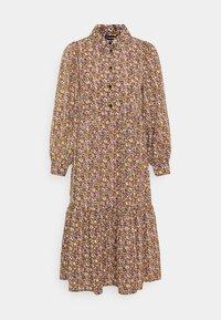 Pieces Petite - PCANJA MIDI DRESS - Shirt dress - black/brown/purple - 4