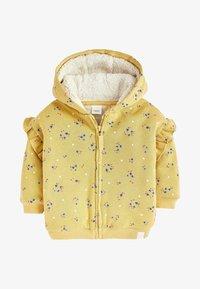 Next - BORG  - Zip-up hoodie - yellow - 0
