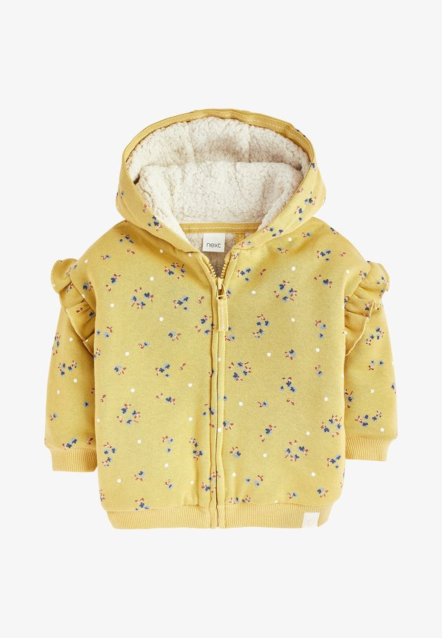 BORG  - Zip-up hoodie - yellow