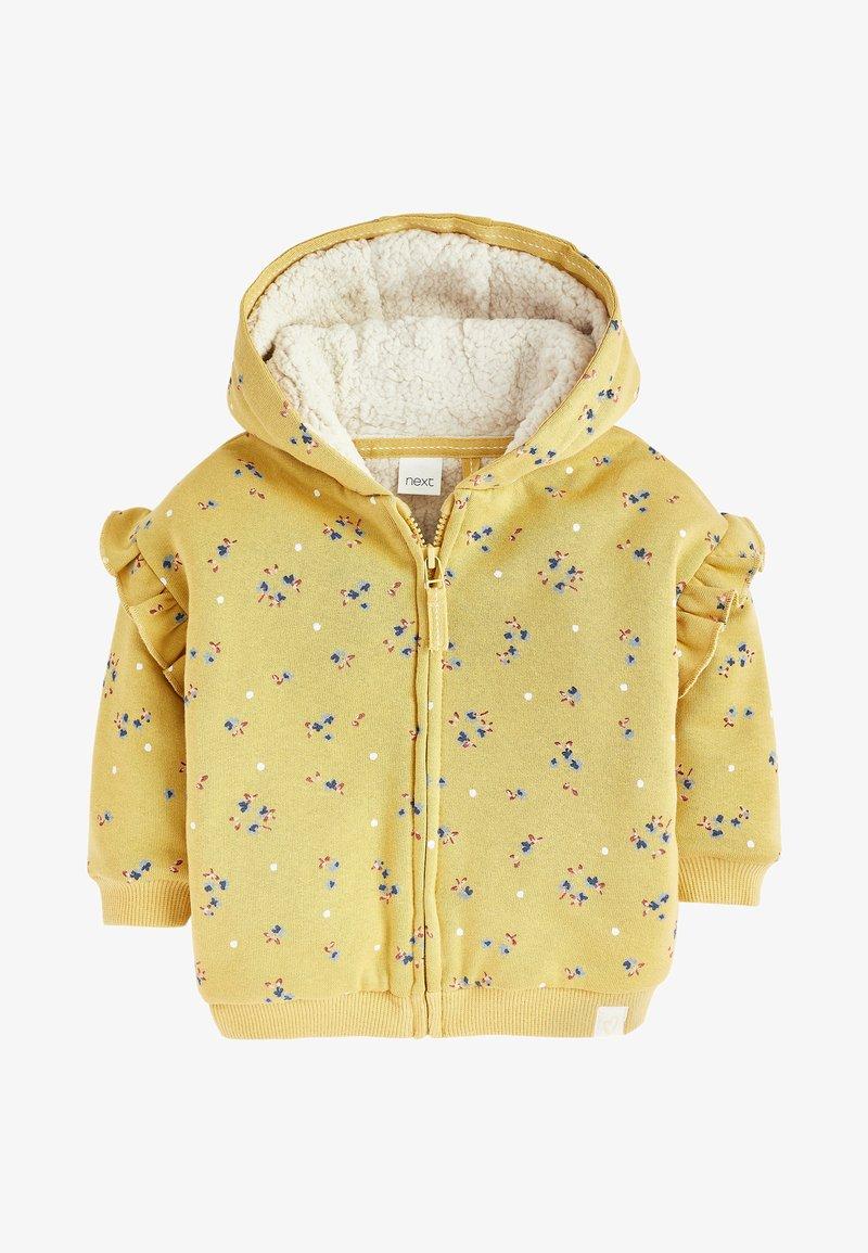 Next - BORG  - Zip-up hoodie - yellow