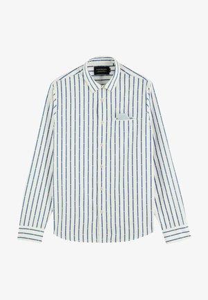REGULAR FIT COUPE MINI JACQUARD - Shirt - white