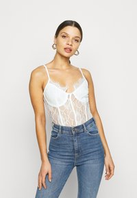 Missguided Petite - STRAPPY  - Top - white - 0