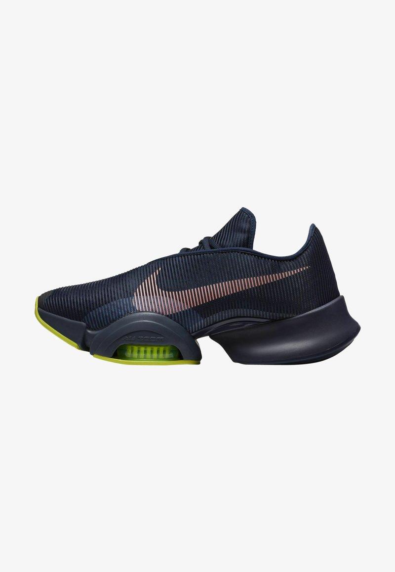 Nike Performance - AIR ZOOM SUPERREP 2 UNISEX - Sportovní boty - blackened blue/bright mango-cyber