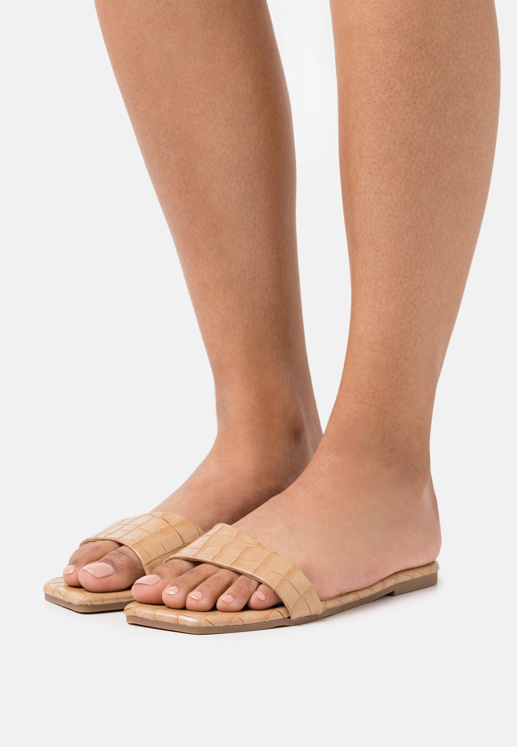 Women VEGAN KAWA SLIDERS - Mules - beige