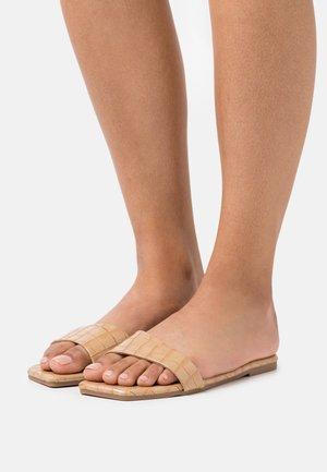 VEGAN KAWA SLIDERS - Sandaler - beige