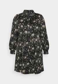 Vero Moda Curve - VMGAJA SHIRT DRESS CURVE - Tunika - black/felicia - 0
