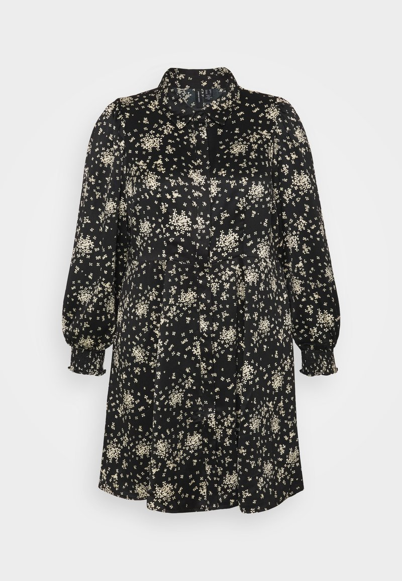 Vero Moda Curve - VMGAJA SHIRT DRESS CURVE - Tunika - black/felicia