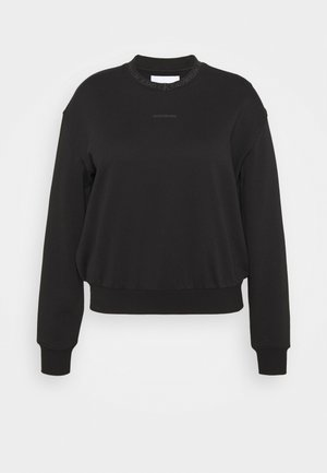 LOGO TRIM CREW NECK  - Sweatshirt - black