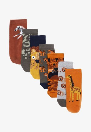 7 PACK - Socks - orange
