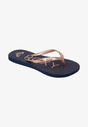 T-bar sandals - true navy/gold