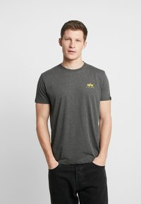 Alpha Industries - BASIC SMALL LOGO - T-shirt basic - charcoal heather - 0