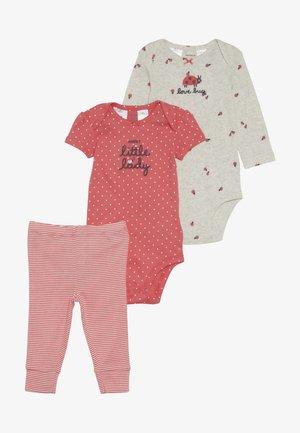 GIRL LADYBUG BABY SET - Legíny - pink