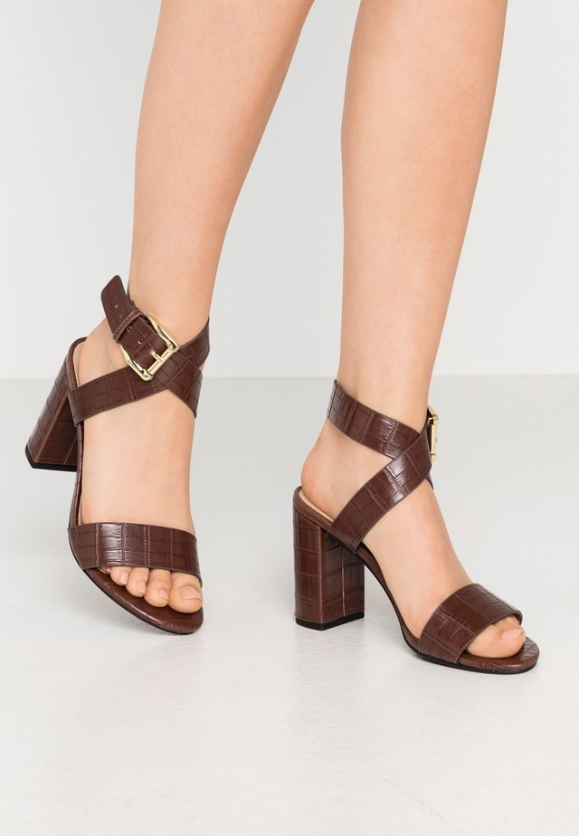 ADRIANNA - High heeled sandals - brown