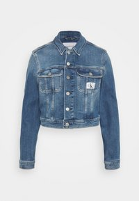 Calvin Klein Jeans - CROPPED JACKET - Denim jacket - denim light - 0