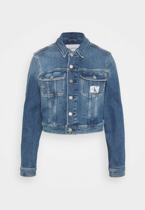CROPPED JACKET - Džínová bunda - denim light