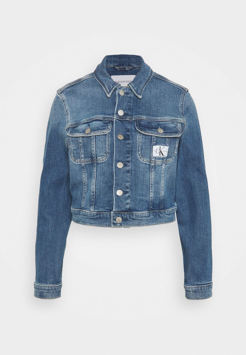 Calvin Klein Jeans - CROPPED JACKET - Denim jacket - denim light