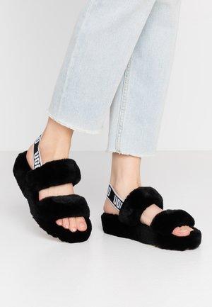 OH YEAH - Sandalen met plateauzool - black