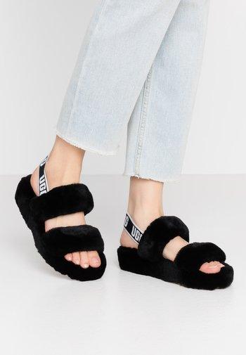OH YEAH - Platform sandals - black