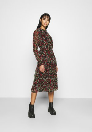 VMAGELA V-NECK CALF DRESS - Skjortekjole - black