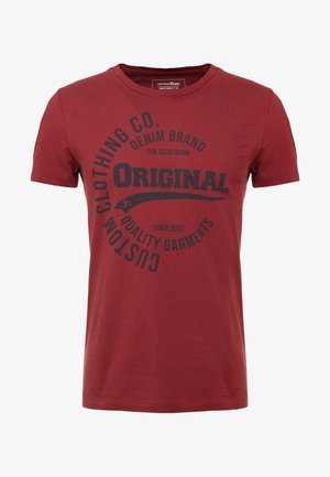 Print T-shirt - fathers pipe red