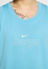 Nike Performance - FC BARCELONA TANK KNIT - Klubové oblečení - lagoon pulse/white - 5