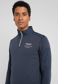Hackett Aston Martin Racing - SPORT HALF ZIP - Bluzka z długim rękawem - navy - 4