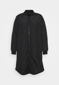 ONLY Carmakoma - CARCARROT NEW LONG QUILTED JACKET - Classic coat - black - 4